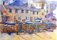 Cottages in Mousehole, Cornwall
